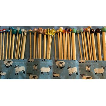 Full Set of Beaded Knitting Needles