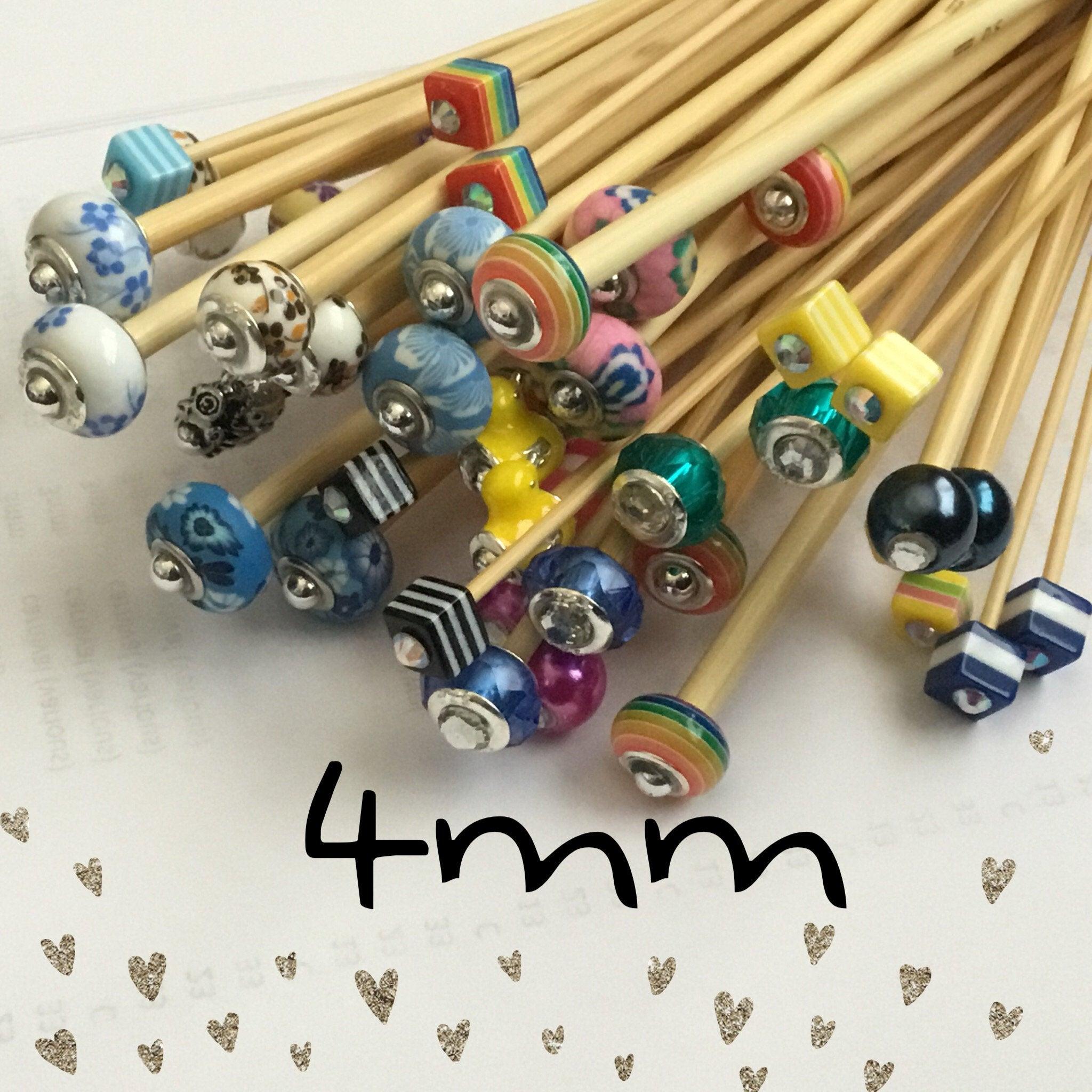 4mm Beaded Bamboo Knitting Needles/crochet Hook